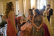 TANSY ASPINALL, COSIMA RAMIREZ DELA PRADA AND GEMIMA LEMOS MCMAHON. Crillon Debutante Ball 2007, Getting Ready. Crillon Hotel Paris. -DO NOT ARCHIVE-© Copyright Photograph by Dafydd Jones. 248 Clapham Rd. London SW9 0PZ. Tel 0207 820 0771. www.dafjones.com.