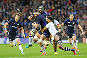 Ryan Wilson on the ball during the 2018 Autumn Test match between Scotland and Fiji at Murrayfield, Edinburgh, Scotland on 10 November 2018.