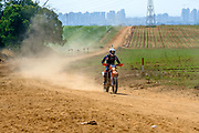 Off road motorcycle race. Photographed in Tuscany, Italy