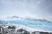 Svínafellsjökull outlet glacier near Vatnajökull National Park, Southeast Iceland.