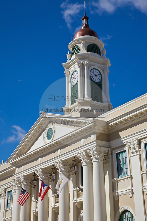 Historic Corinthian Alcaldia or town hall in Mayaguez Puerto Rico