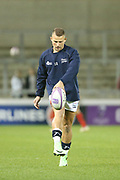 James O'Connor warms up prior to the European Rugby Challenge Cup match between Sale Sharks and Toulouse at the AJ Bell Stadium, Eccles, United Kingdom on 13 October 2017. Photo by George Franks.