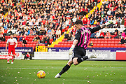 Kieren Westwood clears during the Sky Bet Championship match between Charlton Athletic and Sheffield Wednesday at The Valley, London, England on 1 November 2014.