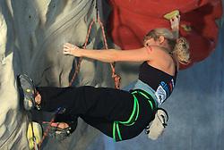 Slovenian climber Natalija Gros at World cup competition in Zlato polje, Kranj, Slovenia, on November 15, 2008.  (Photo by Vid Ponikvar / Sportida)
