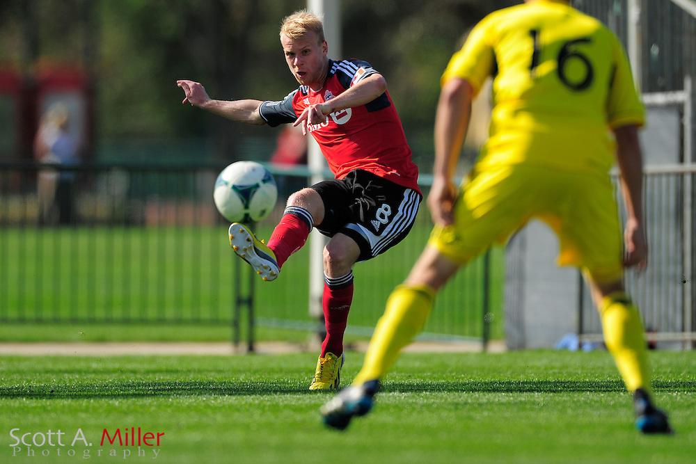 Toronto FC midfielder Kyle Bekker (8) during the Disney Pro Soccer Classic on Feb 9, 2013  in Lake Beuna Vista, Florida. ..©2013 Scott A. Miller