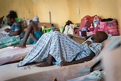2 November 2019, Ganta, Liberia: Patients rest in one of the wards of Ganta Hospital. Located in Nimba county, the Ganta United Methodist Hospital serves tens of thousands of patients each year. It is a founding member of the Christian Health Association of Liberia.