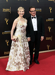 .Peter Scolari, Tracy Shayne  attend  2016 Creative Arts Emmy Awards - Day 1 at  Microsoft Theater on September 10th, 2016  in Los Angeles, California.Photo:Tony Lowe/Globephotos