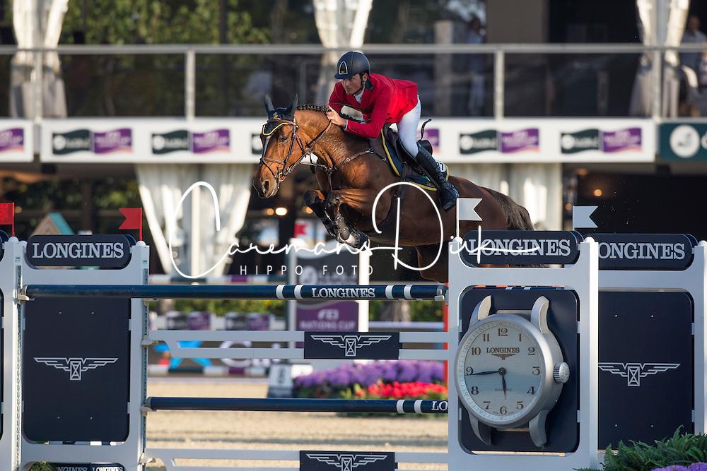 De Luca Lorenzo (ITA) - Elky van het Indihof<br /> Final First Competition<br /> Furusiyya FEI Nations Cup™ Final - Barcelona 2014<br /> © Dirk Caremans<br /> 09/10/14
