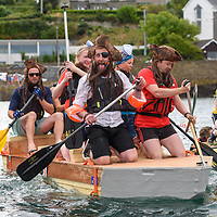The Tara Ribs team at the start of the RNLI Raft race during the Kinsale Regatta at the weekend.<br /> Picture. John Allen