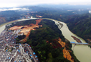 SANJIANG, March 22, 2016<br /> <br /> An aerial photo taken on March 22, 2016 shows the scenery of Sanjiang Dong Autonomous County after rainfall, in Liuzhou City, south China's Guangxi Zhuang Autonomous Region. <br /> ©Exclusivepix Media