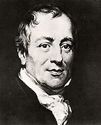 David Ricardo (1772-1823) British political economist, born in London, England, of a Sephardic Jewish family. Engraving.