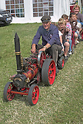 Suffolk Smallholders annual show, Stonham Barns, Suffolk, England, July 2008 Miniature steam engine train,
