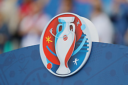 BORDEAUX, FRANCE - Saturday, June 11, 2016: The Euro 2016 logo during the UEFA Euro 2016 Championship match between Wales and Slovakia at Stade de Bordeaux. (Pic by David Rawcliffe/Propaganda)