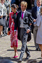 Prince Christian of Hanover and his fiancee Alessadra de Osma at the wedding ceremony of heir of the throne of German House of Hanover, Prince Ernst August Jr. of Hanover, Duke of Braunscshweig and Lueneburg, and Russian designer Ekaterina Masysheva at the Marktkirche church in Hanover, Germany, 08 July 2017. The son of Prince Ernst August of Hanover Sen., who is married to Princess Caroline of Monaco, is related to several royal houses in Europe. The House of Hanover is a German royal dynasty that also ruled the United Kingdom between. Ernst-August Sr.'s own father (Ernst-August IV) opposed his son's marriage to first wife Chantal, a Swiss commoner. Photo by Robin Utrecht/ABACAPRESS.COM