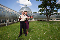 Pictured:   Bard in the Botanics . The latest production features a version of Macbeth set in 1950s, directed by Gordon Barr. Kirk Bage (Macbeth) and Nicole Cooper (Lady Macbeth) have blood on their hands as they perform the murder of Duncan scene on the main stage<br /> Karen Gordon  (c) Edinburgh Elite media Date<br /><br /><br />(c) Karen Gordon | Edinburgh Elite media