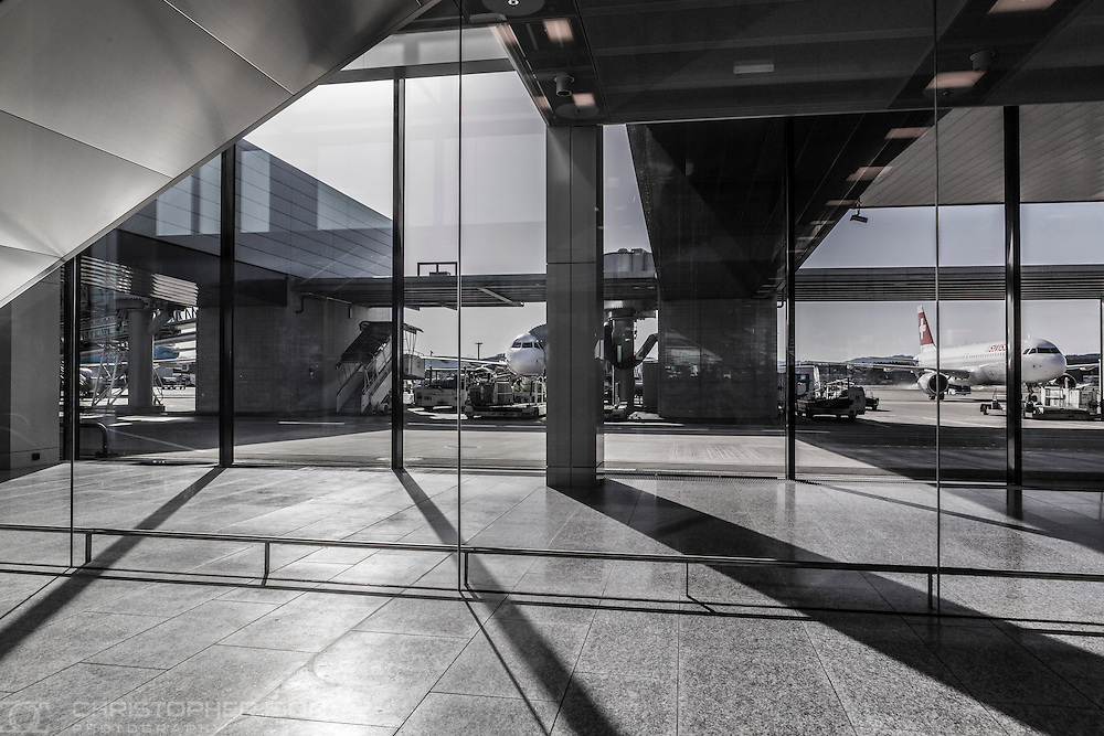 Zurich Airport, Switzerland.<br /> Picture date: Monday February 22, 2016.<br /> Photograph by Christopher Ison &copy;<br /> 07544044177<br /> chris@christopherison.com<br /> www.christopherison.com