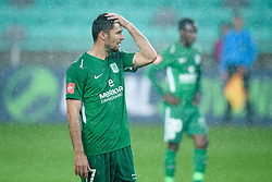Rok Kronaveter during football match between NK Olimpija Ljubljana and NK Aluminij in semi final of Slovenian Cup 2018/19, on April 23, 2019 in Stozice Stadium, Ljubljana, Slovenia. Photo by Morgan Kristan