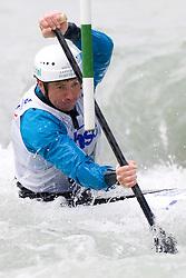 Simon Hocevar of KK Simon competes in the Men's Canoe Single C-1 at kayak & canoe slalom race on May 9, 2010 in Tacen, Ljubljana, Slovenia. (Photo by Vid Ponikvar / Sportida)