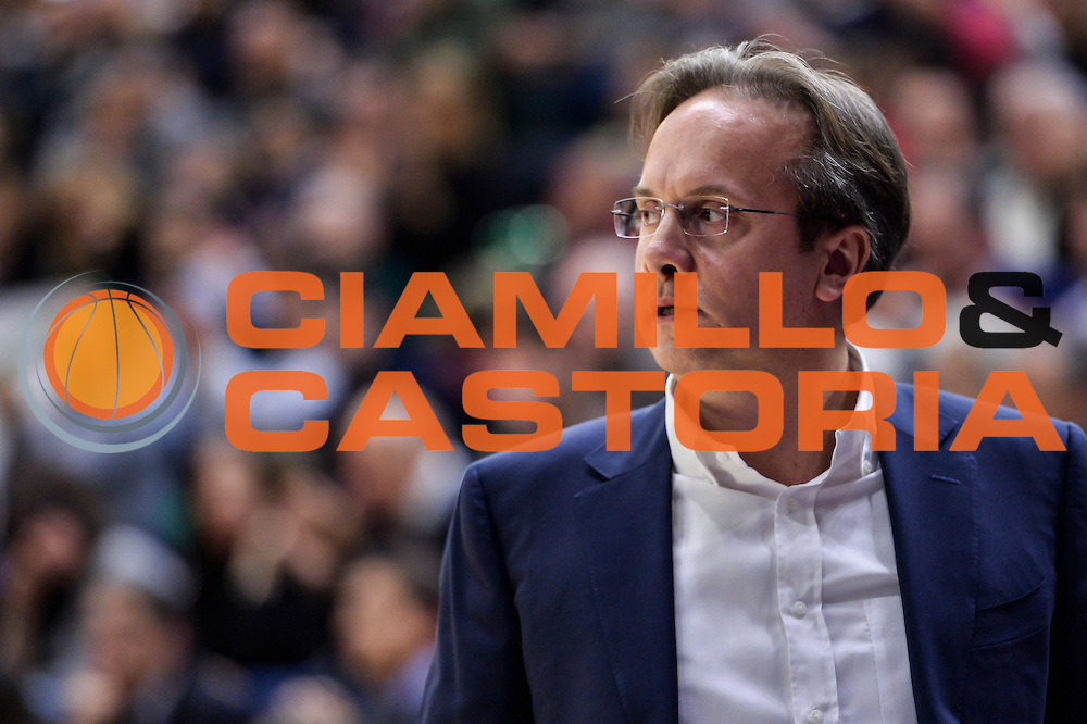 Federico Pasquini<br /> Banco di Sardegna Dinamo Sassari - Le Mans Sarthe<br /> FIBA Basketball Champions League 2016/2017<br /> Ottavi di Finale<br /> Sassari 01/03/2017<br /> Foto Ciamillo-Castoria