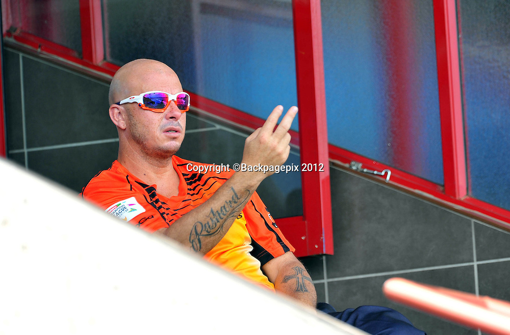 Herschelle Gibbs of Perth Scorchers during the 2012 Champions League Twenty20 cricket match between the Perth Scorchers and the Auckland Aces at Supersport Park in Centurion, South Africa on 23 October 2012 ©Chris Ricco/BackpagePix