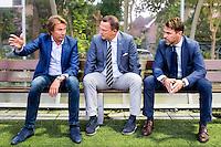 LIENDEN - 21-09-2016, FC Lienden - AZ, Sportpark de Abdijhof, Lienden trainer Hans Kraay jr, AZ trainer John van den Brom, Assistent trainer Dennis Haar.