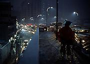 Snowstorm in Shanghai. 2008