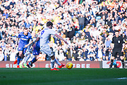 Patrick Bamford of Leeds United (9) scores a penalty to make the score 1-0 during the EFL Sky Bet Championship match between Leeds United and Bolton Wanderers at Elland Road, Leeds, England on 23 February 2019.