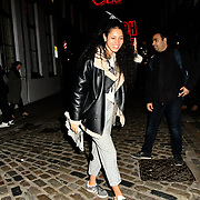 Vick Hope leaving at Choose Love shop launch at Foubert's Place, Carnaby on 22 November 2018, London, UK.