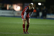 Rhys Patchell of the Scarlets looks on. Guinness Pro12 rugby match, Cardiff Blues v Scarlets at the BT Cardiff Arms Park in Cardiff, South Wales on Friday 28th October 2016.<br /> pic by Andrew Orchard, Andrew Orchard sports photography.