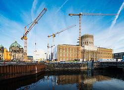 New Humbolt Centre under construction at Lustgarten in Mitte Berlin Germany