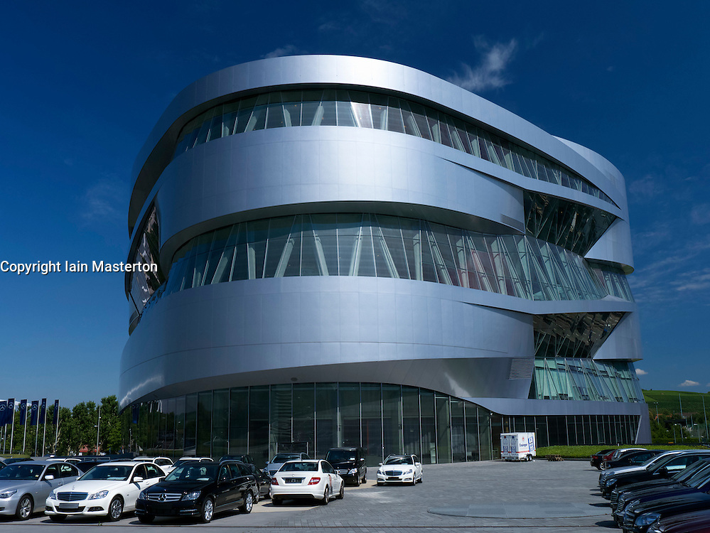 Mercedes Benz Museum in Stuttgart Germany