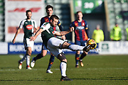 David Fox (24) of Plymouth Argyle clears the ball up the field during the EFL Sky Bet League 1 match between Plymouth Argyle and Bradford City at Home Park, Plymouth, England on 24 February 2018. Picture by Graham Hunt.