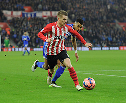 Southampton's Steven Davis in action against Ipswich Town - Photo mandatory by-line: Paul Knight/JMP - Mobile: 07966 386802 - 04/01/2015 - SPORT - Football - Southampton - St Mary's Stadium - Southampton v Ipswich Town - FA Cup Third Round