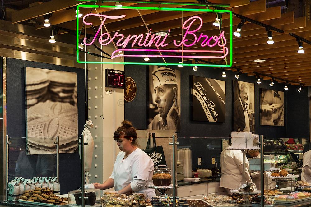 Termini Brothers italian bakery at the Reading Terminal Market, Philadelphia, Pennsylvania, USA