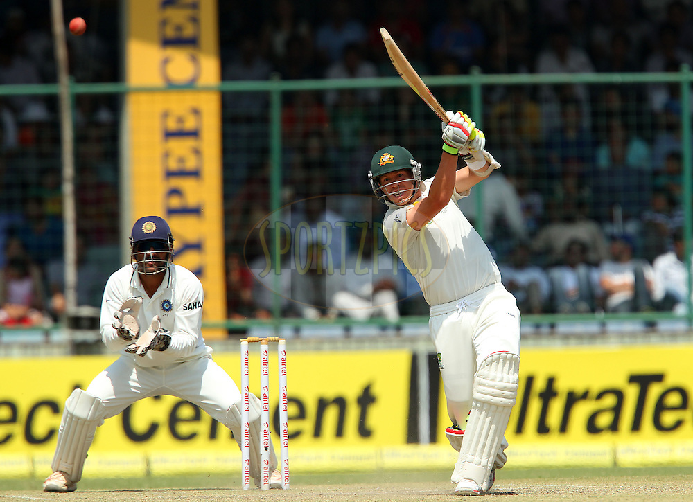 Peter Siddle of Australia during day 3 of the 4th Test Match between India and Australia held at the Feroz Shah Kotla stadium in Delhi on the 24th March 2013..Photo by Ron Gaunt/BCCI/SPORTZPICS ..Use of this image is subject to the terms and conditions as outlined by the BCCI. These terms can be found by following this link:..http://www.sportzpics.co.za/image/I0000SoRagM2cIEc