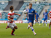 Jake Hessenthaler takes the ball down on his chest during the Sky Bet League 1 match between Gillingham and Doncaster Rovers at the MEMS Priestfield Stadium, Gillingham, England on 5 September 2015. Photo by Andy Walter.