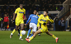 Reece Brown of Peterborough United in action with Curtis Thompson of Wycombe Wanderers - Mandatory by-line: Joe Dent/JMP - 21/01/2020 - FOOTBALL - Weston Homes Stadium - Peterborough, England - Peterborough United v Wycombe Wanderers - Sky Bet League One