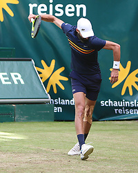 June 21, 2018 - Halle, Allemagne - French player  Benoit Paire (FRA) pictured during his match against player Roger Federer (SUI)  in Halle at Gerry Weber open 2018 (Credit Image: © Panoramic via ZUMA Press)