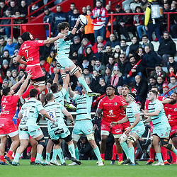 Franco MOSTERT of Gloucester during the European Rugby Champions Cup, Pool 5 match between Toulouse and Gloucester on January 19, 2020 in Toulouse, France. (Photo by Manuel Blondeau/Icon Sport) - Stade Ernest-Wallon - Toulouse (France)