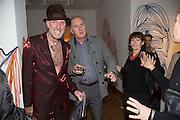 RICHARD STRANGE; VIVIANNE MAYOR; ROBBIE MOFFAT;, Closing party Mayor Gallery, Cork St. London. 17 December 2013