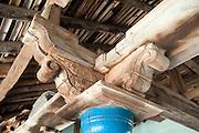 Pillar and rafter detail. Goldsmith Street, Tranquebar.
