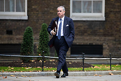 © Licensed to London News Pictures. 29/10/2018. London, UK. Attorney General Geoffrey Cox QC arriving in Downing Street for a cabinet meeting, ahead of the Chancellor of the Exchequer Philip Hammond's autumn budget statement this afternoon. Photo credit : Tom Nicholson/LNP