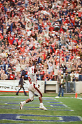 COLLEGE FOOTBALL:  Stanford vs Cal in the 1980l Big Game played on November 22, 1980 at Memorial Stadium in Berkeley, California.  Vincent White #22.  Photography by David Madison (www.davidmadison.com).