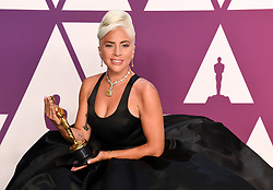 Lady Gaga wins Best Original Song Oscar in the press room at the 91st Academy Awards held at the Dolby Theatre in Hollywood, Los Angeles, USA