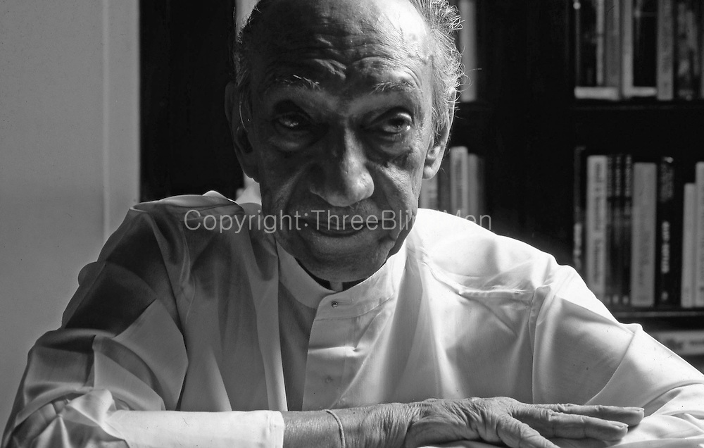 J. R. Jayewardene at his office at home, Ward Place.