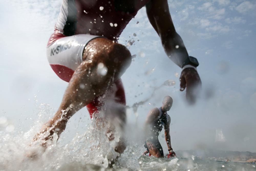 Eilat Triathlon <br /> European Championships  U23  2011 men .Eilat/ Israel 28/10/2011<br />  <br /> The photos underwater taken in the israel Chmpionships that been in the same day .