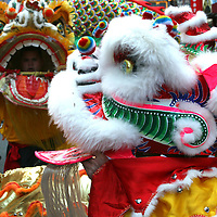 Ornate dragons dance around Chinatown in Washington, D.C. in celebration of the Chinese New Year.