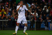 MADRID, SPAIN - APRIL 27: Angel di Maria of Real Madrid CF celebrates after scoring during the Liga BBVA between Club Atletico de Madrid and Real Madrid CF at the Vicente Calderon stadium on April 27, 2013 in Madrid, Spain. (Photo by Aitor Alcalde Colomer).