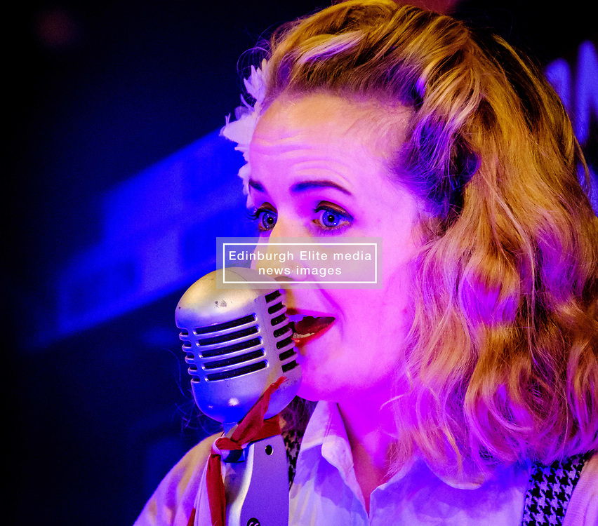 Sunday 7th May 2017 East Fortune:  Wartime Experience at the National Museum of Flight, East Fortune  The Blitz Sisters entertain.<br /> <br /> (c) Andrew Wilson   Edinburgh Elite media