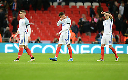 John Stones of England, Dele Alli of England and Ross Barkley of England cut  frustrated figures after the game - Mandatory by-line: Alex James/JMP - 29/03/2016 - FOOTBALL - Wembley Stadium - London, United Kingdom - England v Netherlands - International Friendly